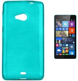 Forcell Jelly Brush Back Case For Microsoft 535 Lumia Blue
