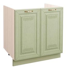 DaVita Olivija 72.51 Kitchen Bottom Cabinet Under The Sink  Astrid Pine/Green