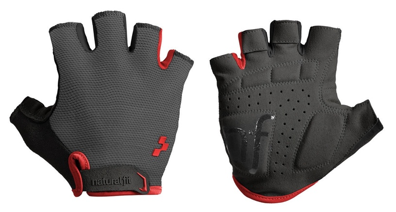 Cube Natural Fit Gloves Short Finger Grey/Red M