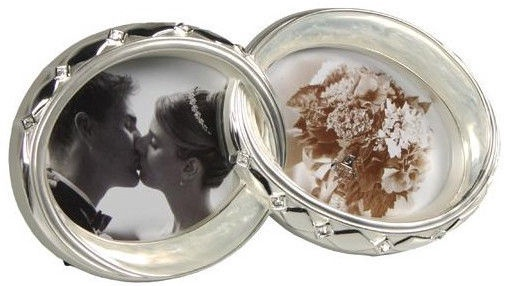 Poldom Photo Frame Double Ring Silver CK