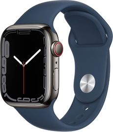 Viedais pulkstenis Apple Watch Series 7 GPS + LTE 41mm Stainless Steel, melna
