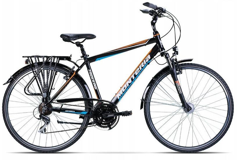 "Velosipēds Monteria Trip M2 Black/Orange/Blue 2020, 21"", 28"""