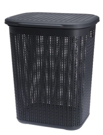 Veļas kaste Galicja Willow Plastic Laundry Baket Dark Grey 50l