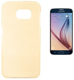 Forcell Jelly Brush Back Case For Samsung G920 Galaxy S6 Gold
