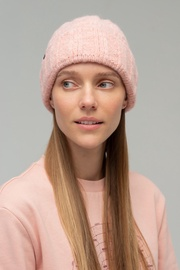 Audimas Soft Knitted Hat With Wool 1-06-335 Red/Pink