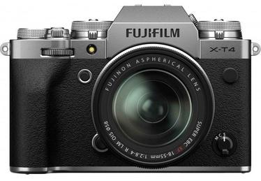 Sistēmas fotoaparāts Fujifilm X-T4 Mirrorless Camera Silver + Fujinon XF 18-55mm f/2.8-4 R LM OIS