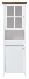 Шкаф-витрина Black Red White Kalio REG1D1W1S, коричневый/белый, 65x41.5x196.5 см