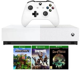 Microsoft Xbox One S 1TB All-Digital with Minecraft plus Sea of Thieves plus Fortnite