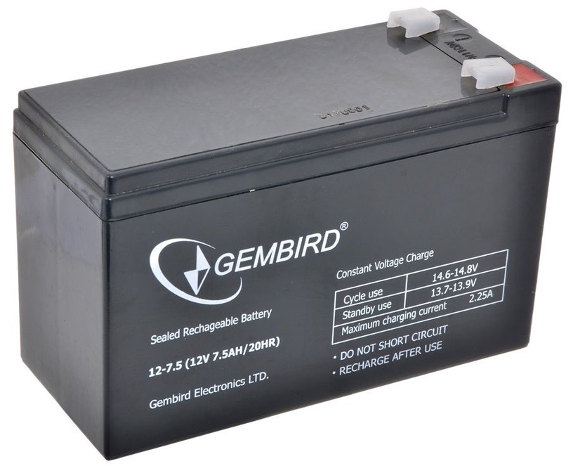 Gembird Rechargeable Battery 12V 7.5AH for UPS