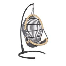 Home4you Tiger Swing Chair Black/Dark Grey