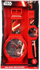 Verners Wall Clock Star Wars 47cm Red