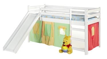 Divstāvīga gulta Halmar Neo Plus, balta, 197x89 cm