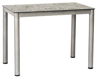 Pusdienu galds Signal Meble Modern Damar, pelēka, 800x600x750mm