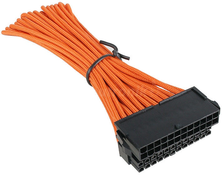 BitFenix 24-Pin ATX 30cm Extension Cable Orange/Black