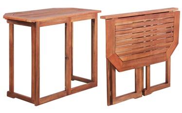 Садовый стол VLX Solid Acacia Wood 44039, коричневый, 90 x 50 x 75 см