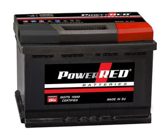 Akumulators Power Red LB2, 55 Ah, 480 A, 12 V