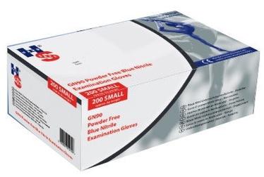 Darba cimdi Healthline GN90 Blue Nitrile Examination Gloves 200pcs S