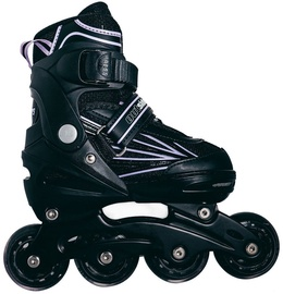 Outsiders Adjustable Kids Inline Rollerblades Black/Light Purple 31-34