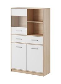 Комод WIPMEB Tulia 1W 3D 1S Sonoma Oak/White, 83.4x34.3x144.7 см