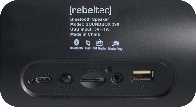 Bezvadu skaļrunis Rebeltec SoundBox 390 Black, 20 W