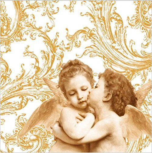 Paw Decor Collection Sweet Angels Gold Napkins 33x33cm