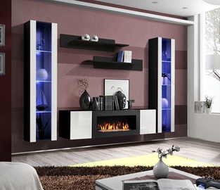 ASM Fly M2 Living Room Wall Unit Set White/Black