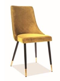 Ēdamistabas krēsls Signal Meble Piano Velvet Yellow, 1 gab.