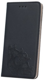 Mocco Stamp Floral Lace Magnet Book Case For Samsung Galaxy A5 A510 Black