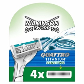 Wilkinson Sword Quattro Titanium Sensitive Razor Cartridge Blades 4pcs