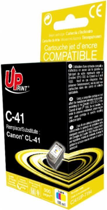 Uprint Cartridge For Canon 18ml Colour
