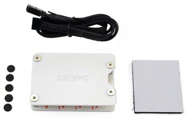 XSPC RGB Splitter Hub SATA Powered 4Pin White