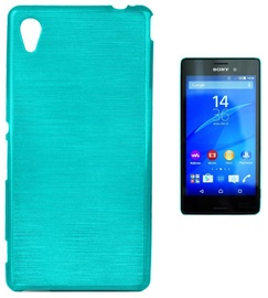 Forcell Jelly Brush Back Case For Sony Xperia M4 Aqua Blue