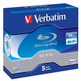 Verbatim BD-R 6X 50GB Dual Layer 5P Jewel Case