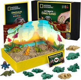 Smilškastes rotaļlieta National Geographic Ultimate Dino Play Sand kit, daudzkrāsains, 15 gab.