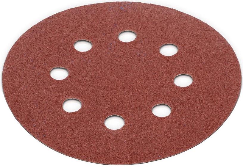 Slīpēšanas disks Kreator, G80, 125 mm, 8 caurumi, 5 gab.