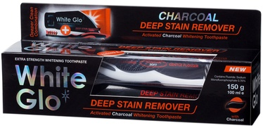 White Glo Deep Stain Remover Activated Charcoal Whitening T/P 150g