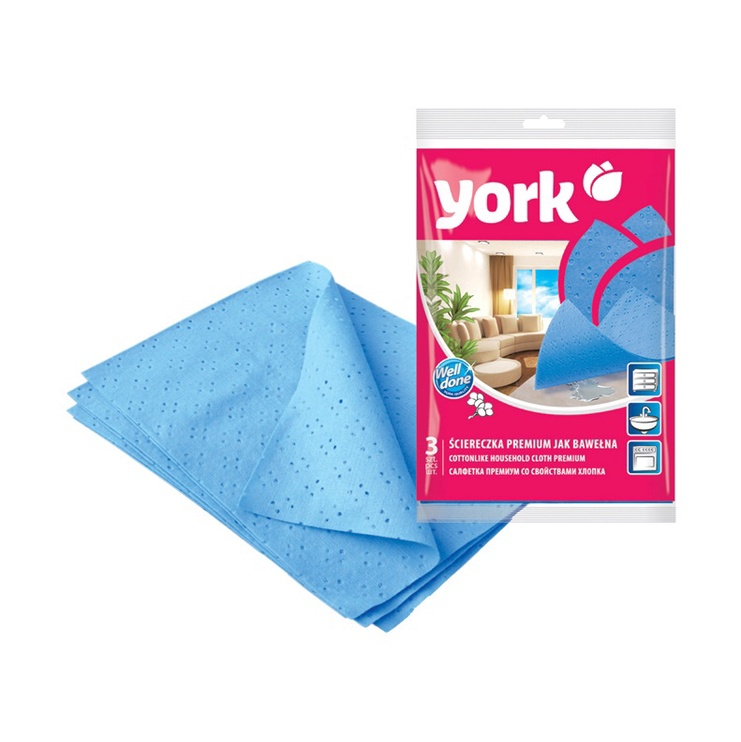York Cottonlike Household Cloth Premium 3pcs