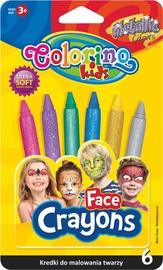 Komplekts Colorino Kids Metallic Colours Face Crayons 6pcs