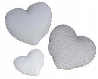 Lulando Heart Pillows Grey 3pcs