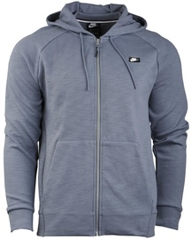 Nike Mens Full Zip Optic Hoodie 928475 427 Light Grey L