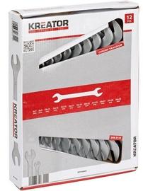 Двухсторонний гаечный ключ Kreator KRT500003 DBL Opened Spanner Set 12pcs