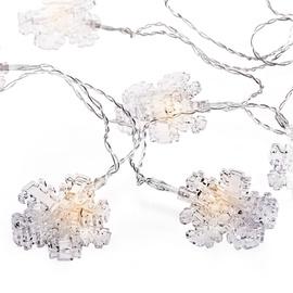 Электрическая гирлянда DecoKing Kaleo Snowflake Clear LED w/ Clips, 10 шт.