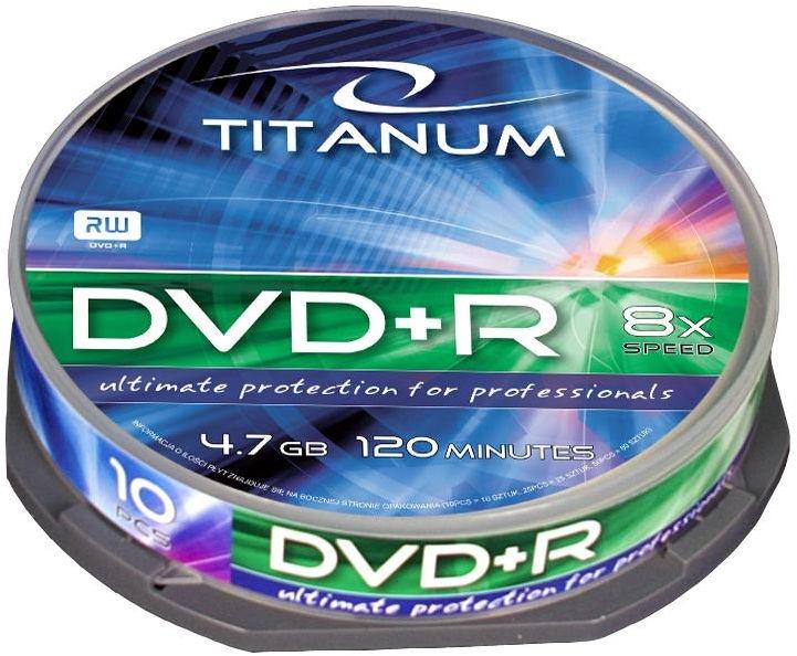 Esperanza 1078 Titanum 8x 4.7GB Cake Box 10 DVD's