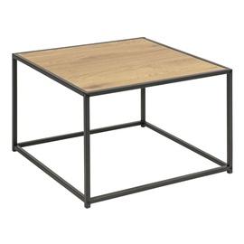 Kafijas galdiņš Home4you Seaford Oak, 600x600x400 mm