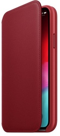 Apple Leather Folio Case For Apple iPhone XS Max Product Red
