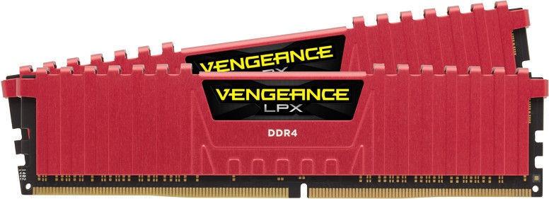 Corsair Vengeance LPX Red 8GB 2666MHz CL16 DDR4 KIT OF 2 CMK8GX4M2A2666C16R