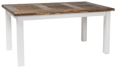 Pusdienu galds Signal Meble Poprad Brown/White, 1600x760x900 mm