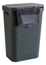 Ящик для белья Rotho Country Laundry Hamper Anthracite 55l