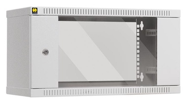 Серверный шкаф Netrack Wall Cabinet 19'' 6U/600mm Glass Grey