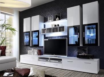 Dzīvojamās istabas mēbeļu komplekts ASM Lyra White